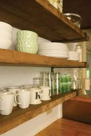 rustic wood shelves with l bracket interior design at its finest