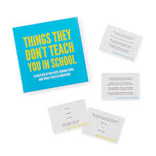 Things They Dont Teach You In School Game Party Game