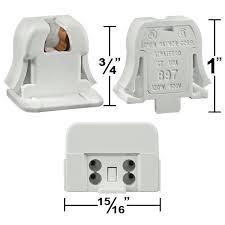 Leviton T5 Lamp Holder by T5 Mini Bi Pin Socket Turn Type Snap In