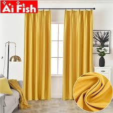gelb moderne blackout vorhänge für wohnzimmer orange einfarbig schlafzimmer vorhang vorhänge küche stoff cortinas my488 3