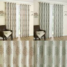 Ebay Curtains With Pelmets Ready Made by Embroidered Eyelet Curtains Fully Lined Mulberry Pattern With