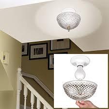 clip on light shade cut acrylic dome lightbulb fixture