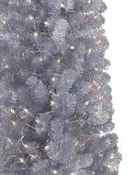 Christmas Tree Tinsel Icicles by Shimmering Silver Artificial Pencil Christmas Tree Treetopia