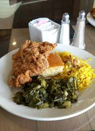 Sylvias Queen Of Soul Food Fried Chicken Greens Corn Bread And Rice
