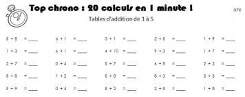 tables de multiplication en ligne chronométré table de lit a