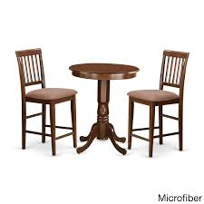 Shop Brown Asian Rubberwood 3-piece Pub Table Set - Free Shipping ...