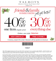 Talbots Coupons - 40% Off A Single Item At Talbots, Or ... 50 Off Talbots Coupons Promo Discount Codes Wethriftcom Dealigg Coupons Helpers Chrome The Perfect Cropchambray Top Savings Deals Blogs Dudley Stephens New Releases Coupon Code Kelly In The City Batteries Plus Coupon Code Discount 30 Off Entire Purchase Store Macys 2018 Chase 125 Dollars