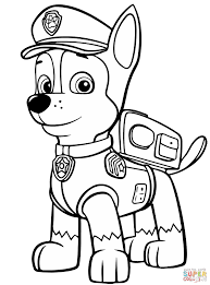 Click The Paw Patrol Chase Coloring Pages To View Printable Version Or Color It Online Compatible With IPad And Android Tablets