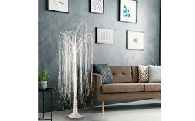 led deko baum willow in weiß 210 cm