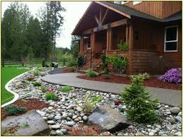 Perfect Rock Landscaping Ideas For Front Yard | Paisagismo ... Outdoor Living Cute Rock Garden Design Idea Creative Best 20 River Landscaping Ideas On Pinterest With Lava Fleagorcom Natural Landscape On A Sloped And Wooded Backyard Backyards Small Under Front Window Yard Plans For Of 25 Rock Landscaping Ideas Diy Using Stones Interior 41 Stunning Pictures Startling Gardens