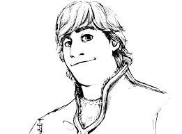 Kristoff Is Smiling Coloring Pages