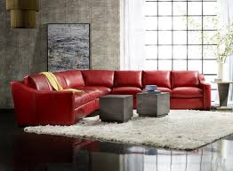 Bradington Young Leather Sectional Sofa by Bradington Young Aldana Stationary Sectional 601
