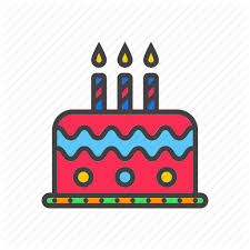 birthday cake candles icon