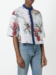 antonio marras printed cropped jacket 002 women clothing jackets