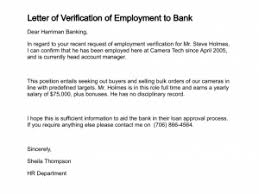 Writing A Letter Employment Verification Best Resume Gallery