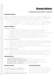 Professional Summary In Resume Examples Experience Ability