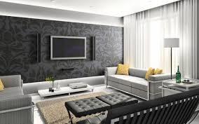 wandgestaltung tapete wohnzimmer florale muster dunkelgrau