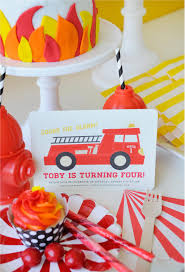 100 Fire Truck Birthday Party This Is One HOT Engine Project Nursery