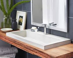 Double Faucet Trough Sink Vanity by Sinks Amusing Trough Bathroom Sink With Two Faucets Trough
