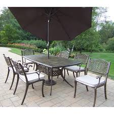 7 Piece Patio Dining Set With Umbrella by Outdoor Dining Sets With Umbrella Video And Photos