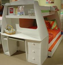 wood bunk bed with desk Bunk Bed with Desk Design for Smart