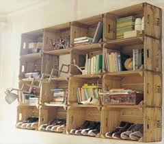 Shoe Rack And Book Shelves Pallet Recycling Ideas
