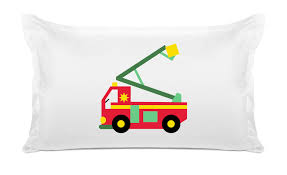 Personalized Fire Truck Pillow Cases For Kids | Di Lewis