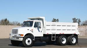 1996 International 4900 10-12 Yard Dump Truck - YouTube