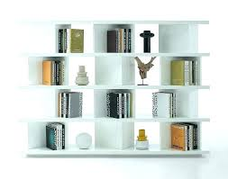 white book shelves