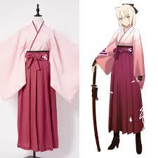 fate grand order sakura saber kimono cosplay costume for women