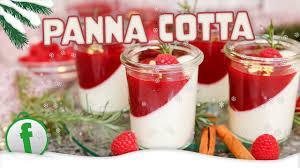panna cotta weihnachtsdessert mit zimt himbeeren und lebkuchengewürz