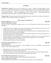 Senior Administrative Assistant Resume By Profession