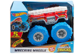 100 Hot Wheels Monster Truck Toys Wrecking Vehicle Collection 5 Alarm