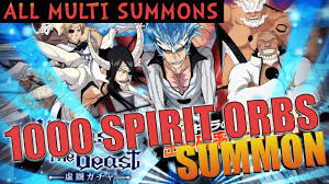 Bleach Brave Souls 1000 Spirit Orbs UNLEASH THE BEAST Summons