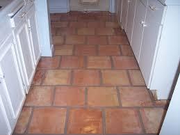 restored mexican saltillo tile kitchen floor in scottsdale