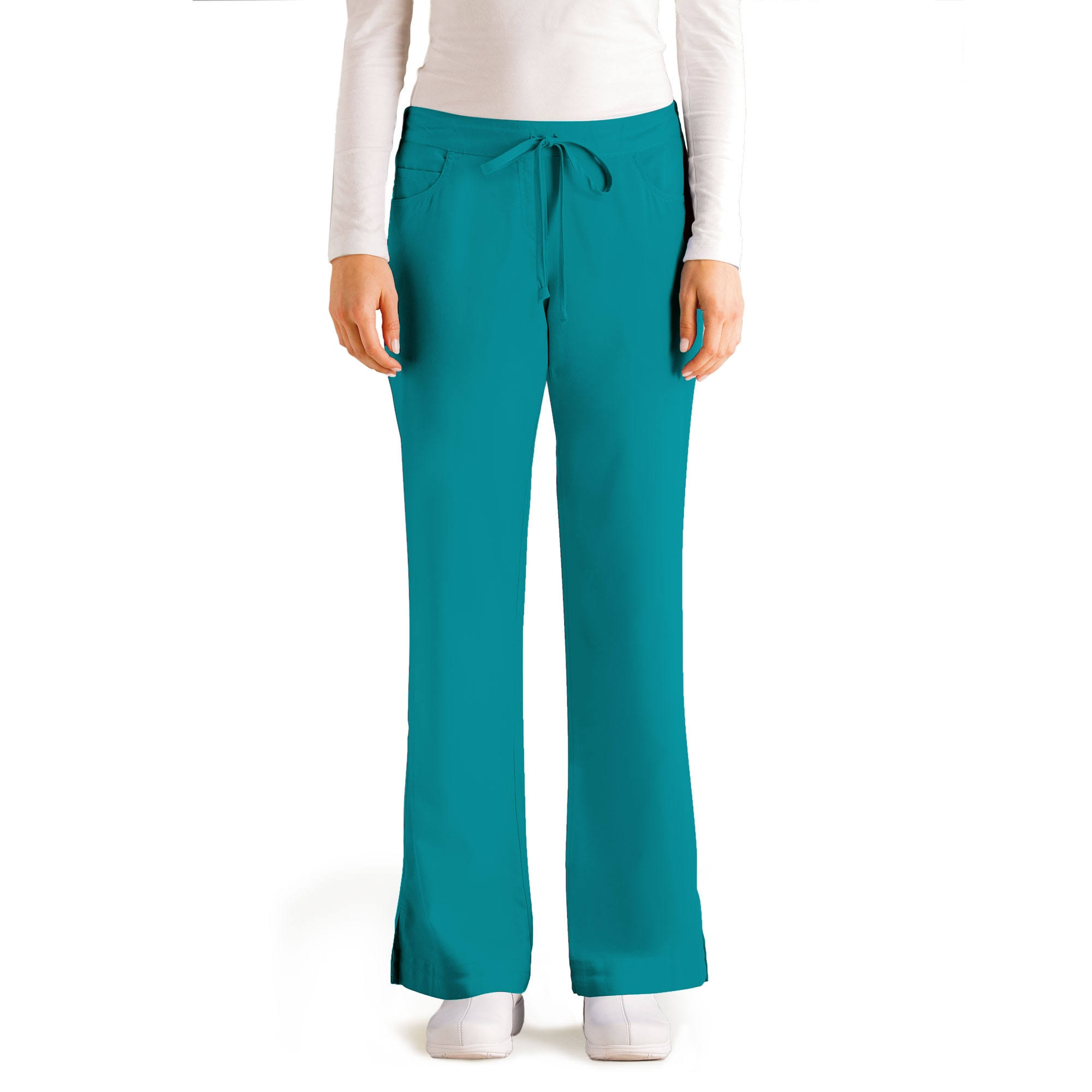 Grey's Anatomy Women's Junior Fit FivePocket Drawstring Scrub Pant - Teal, X-Large