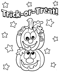 Happy Halloween Coloring Pages Trick Or Treat