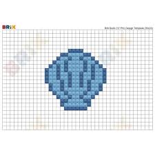 100 Sea Shell Design Shell Pixel Art BRIK