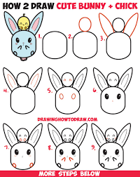Large Size Of Uncategorized How To Draw Cute Kawaii Chibi Bunny Rabbit And Baby