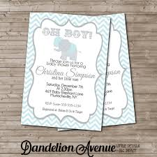 Printable DIY Baby Shower Invitation Card Baby Boy Announcement