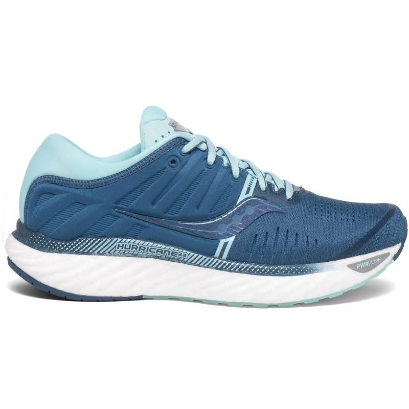 Saucony Women's Hurricane 22 Running Shoe - Blue/Aqua, 10