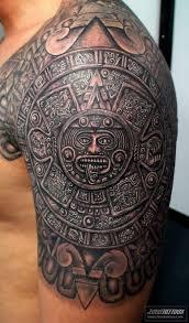 Shoulder Tattoos Men Aztec