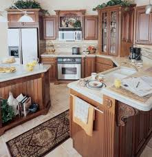 Cherry Finished Country Style Kitchen Cabinets