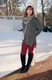 Jcpenney Christmas Tree Sweater by Charcoal Grey Sweater With Burgundy Leggings Amy U0027s Creative Pursuits