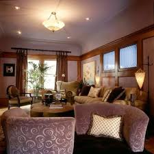 semi flush mount living room lighting with mini recessed lights
