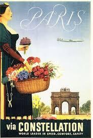 Vintage Paris Pan Am Airline Poster A3 A2 A1 Print