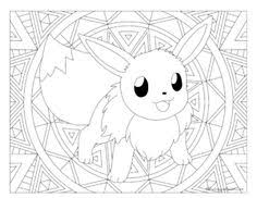 Free Printable Pokemon Coloring Page Eevee Visit Our For More Fun All Ages Adults And Children