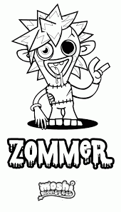 Moshi Monsters Luvli Zoomer Coloring Page