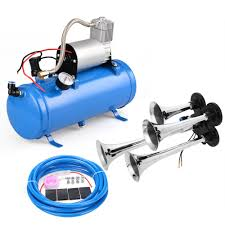 Meditool 150DB 4 Trumpet Train Horn Kit, Loud Air Horn Kit 12V Blue ... Tips On Where To Buy The Best Train Horn Kits Horns Information Truck Horn 12 And 24 Volt 2 Trumpet Air Loudest Kleinn 142db Air Compressor Kit230 Kit Kleinn Velo230 Fits 09 Hornblasters Hkc3228v Outlaw 228v Chrome 150db Air Horn Triple Tubes Loud Black For Car Universal 125db 12v Silver Trumpet Musical Dixie Duke Hazzard Trucks 155db 200psi Viair System Conductors Special How Install Bolton On A 2010 Silverado Ram1500230 Ram 1500 230 With 150psi Airchime K5 540