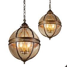 runder glas kronleuchter für schlafzimmer esszimmer pendelleuchten 3 licht vintage kronleuchter